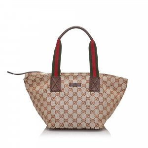 Gucci GG Canvas Web Handbag