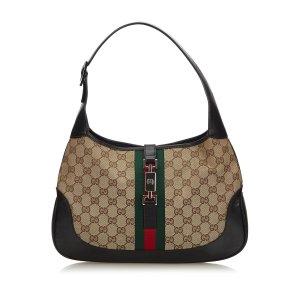 Gucci GG Canvas Web Jackie Shoulder Bag