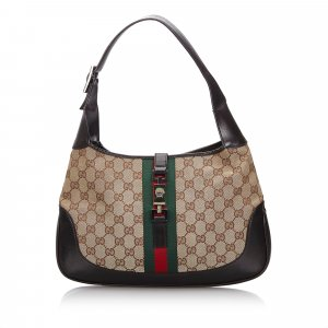 Gucci GG Canvas Web Jackie Shoulder Bag