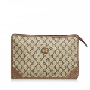 Gucci Clutch brown polyvinyl chloride
