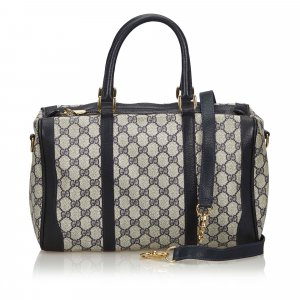 Gucci GG Coated Canvas Satchel