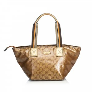 Gucci GG Crystal Coated Canvas Handbag