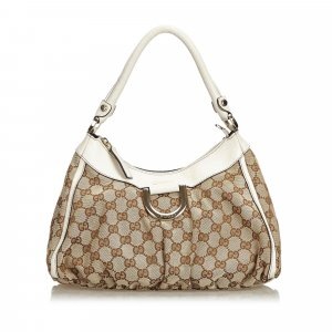 Gucci GG Jacquard Abbey D-Ring Handbag