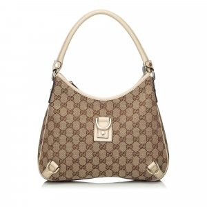 Gucci GG Jacquard Abbey Hobo Bag
