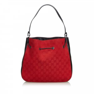 Gucci GG Jacquard Drawstring Shoulder Bag