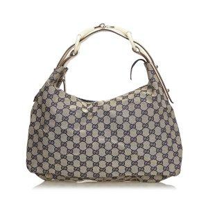 Gucci GG Jacquard Horsebit Hobo Bag