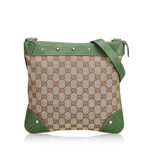 Gucci GG Jacquard Nailhead Crossbody Bag