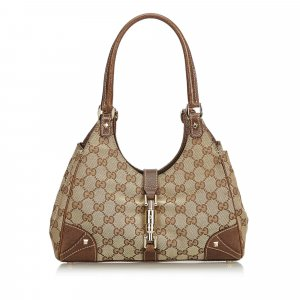 Gucci GG Jacquard Nailhead Jackie Shoulder Bag