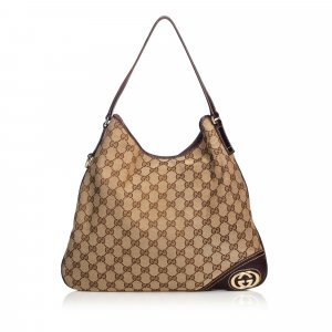 Gucci GG Jacquard New Britt Shoulder Bag