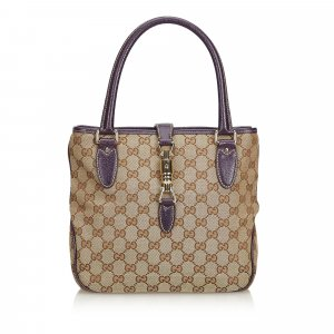 Gucci GG Jacquard New Jackie Tote