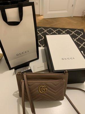Gucci Schoudertas goud-stoffig roze Leer