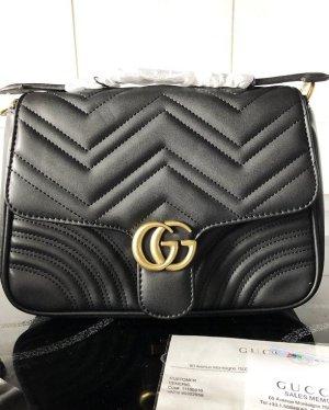 Gucci Borsa con manico nero-oro
