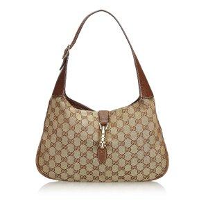 Gucci GG New Jackie Canvas Shoulder Bag