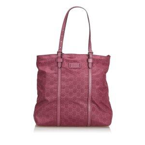 Gucci Bolso de compra rosa Nailon