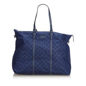 Gucci Reistas blauw Nylon