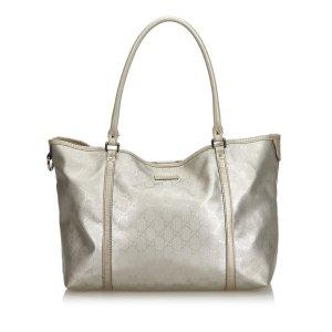 Gucci Borsa larga argento
