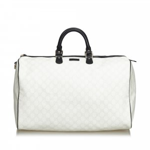 Gucci Travel Bag white polyvinyl chloride