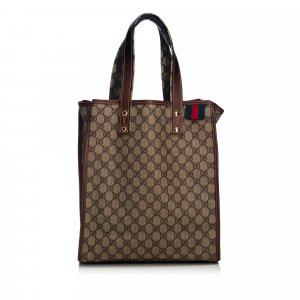 Gucci GG Supreme Web Tote Bag
