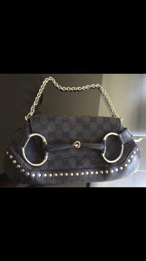 Gucci Borsa clutch nero-argento