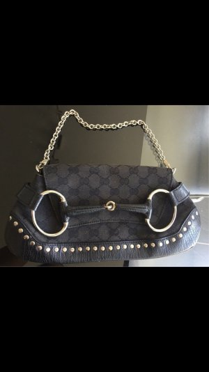 GUCCI GG TOP LUXUS CANVAS HOBO TASCHE RAR MONOGRAM BAGUETTEBAG CLUTCH
