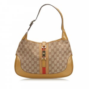 Gucci GG Web Canvas Jackie Hobo