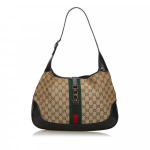 Gucci GG Web Canvas Jackie Shoulder Bag