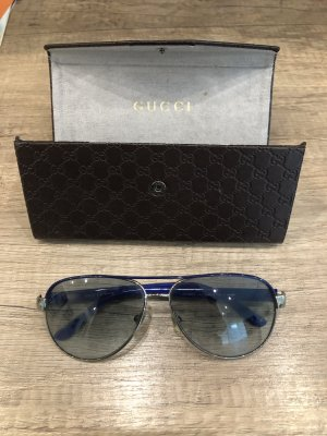 Gucci Aviator Glasses blue-silver-colored