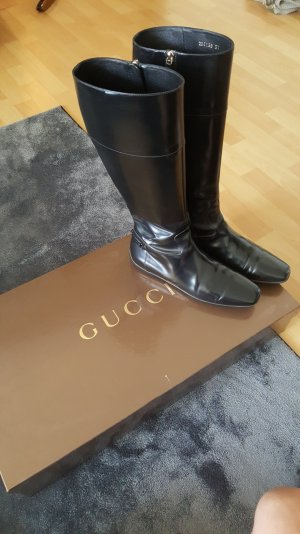Gucci Riding Boots black leather