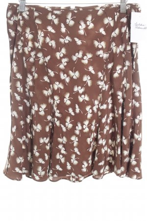 Gucci Godet Skirt brown-cream themed print casual look
