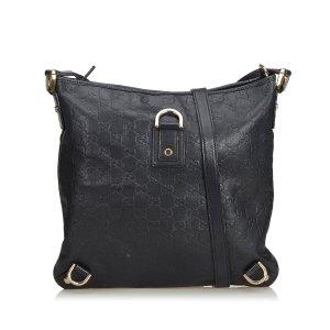 Gucci Guccissima Abbey Leather Crossbody Bag