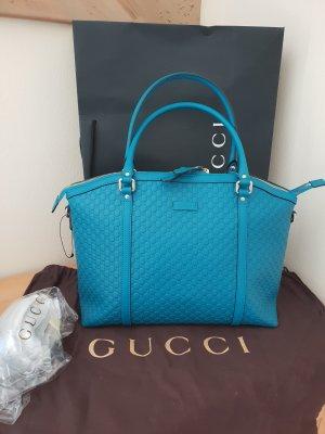 Gucci Guccissima Bag Türkis Leder Neu original verpackt