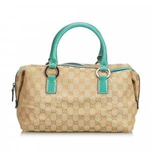 Gucci Guccissima Canvas Boston Bag