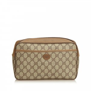 Gucci Guccissima Canvas Clutch