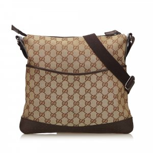 Gucci Guccissima Canvas Crossbody Bag