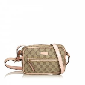 Gucci Crossbody bag dark brown polyvinyl chloride