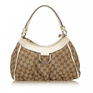 Gucci Guccissima Canvas D-Ring Shoulder Bag