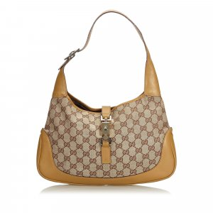 Gucci Guccissima Canvas Jackie Shoulder Bag