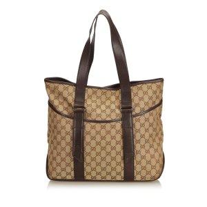 Gucci Guccissima Canvas Tote Bag