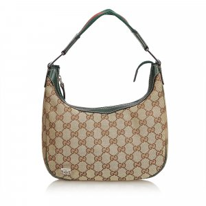 Gucci Guccissima Canvas Web Shoulder Bag