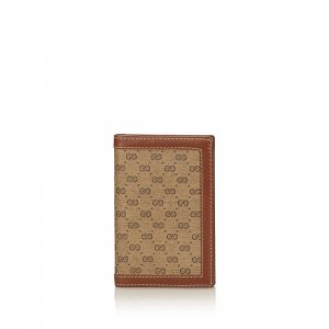 Gucci Card Case brown polyvinyl chloride