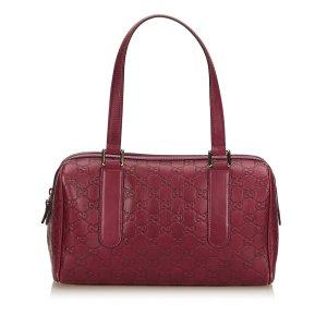 Gucci Shoulder Bag purple leather