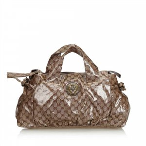Gucci Guccissima Coated Canvas Hysteria Boston Bag