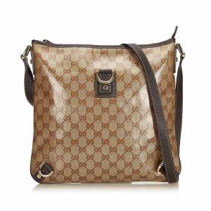 Gucci Guccissima Crystal Abbey Crossbody Bag