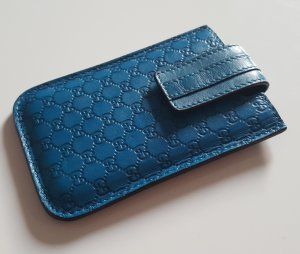 Gucci Mobile Phone Case cornflower blue leather