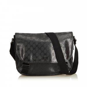 Gucci Crossbody bag black polyvinyl chloride