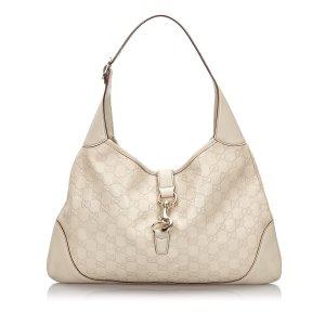 Gucci Sac porté épaule blanc cuir