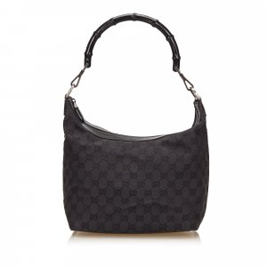 Gucci Guccissima Jacquard Bamboo Shoulder Bag