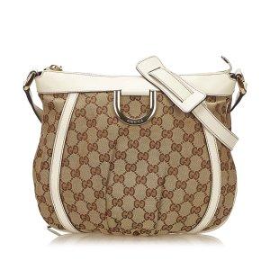 Gucci Guccissima Jacquard D-Ring Crossbody Bag
