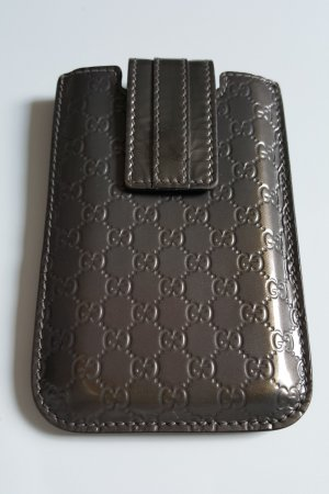 Gucci Mobile Phone Case anthracite-dark brown leather