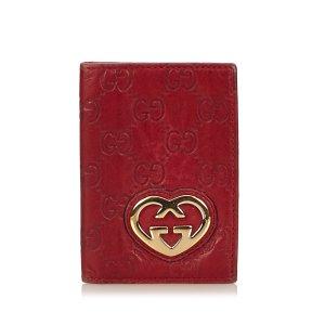 Gucci Guccissima Leather Card Holder